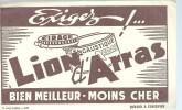 BUVARD LION D ARRAS  Cirage Encaustique  EXIGEZ   Bien Meilleur Moins Cher   ..... - Produits Ménagers