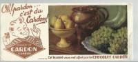 BUVARD  CAMBRAI   Chocolat CARDON   Oh Pardon ... C'est Du CARDON   Plateau De Fruits - Chocolat