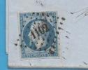 FRANCE N° Yvert 10 Sur Lettre - 1852 Louis-Napoléon