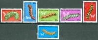 Congo 1971 Caterpillars, Butterflies MNH** - Lot. 3851 - Congo - Brazzaville