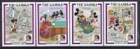 DISNEY -GAMBIA 1985  Yvert#555/58 Precio Cat€10 - Disney