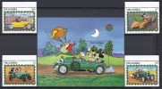 DISNEY -GAMBIA 1989  Yvert#869/72 H85 Precio Cat€19 - Disney