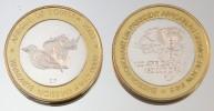Burkina Faso 150000 CFA 2003 Rhinoceros Monnaie Bimétallique Précieuse Animal - Burkina Faso