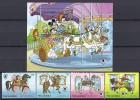 DISNEY -GAMBIA 1989  Yvert#841/44 H77 Precio Cat€15.50 - Disney