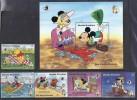 DISNEY -GRENADA GRENADINAS 1989-  Yvert#1062/66  H181 Precio Cat€16 - Disney