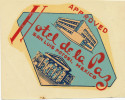 MEXICO -  HOTEL  DE LA PAZ SAN LUIS POTOSI,  Old HOTEL LUGGAGE LABEL ETIQUETTE ETICHETTA BAGAGE - Hotel Labels