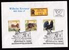 Austria: Registered Cover, First Day, Postmark Exhibition Endangered Animals, R-label Sonderpostamt Graz (traces Of Use) - 1945-.... 2de Republiek