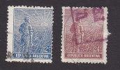 Argentina, Scott #196,  198, Used, Agriculture, Issued 1912 - Usati