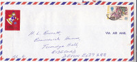 1975 BERMUDA CHRISTMAS LABEL On Airmail COVER Flower Stamps - Bermuda