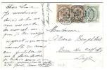 LIEGE DEPART 4 JANV 1910  2 X 2 Ct Brun + 1 Ct Gris - 1893-1900 Thin Beard