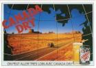 Z34/ FICHE PUBLICITE  FORMAT CPSM / CP - 1991 CANADA DRY ETAT NEUF - Publicités