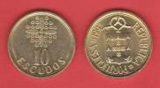 PORTUGAL  (República)  10 Escudos 1.992 Niquel-Latón  KM#633  EBC/XF    T-DL-11.401 - Portogallo