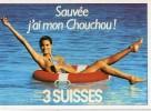 Z34/ FICHE PUBLICITE  FORMAT CPSM / CP - 1987 3 SUISSES    ETAT NEUF - Publicités