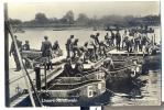 AK Ensere Reichswehr, Pioniere Bauen Eine Brücke Boote (6199) - Ausrüstung
