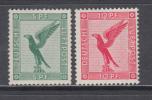 1925   MICHEL   Nº   378 , 379   / ** / - Luftpost