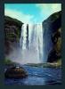 ICELAND  -  Skogafoss Waterfall  Unused Postcard As Scan - Iceland