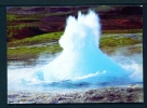 ICELAND  -  Strokkur Geryser Starting To Spout  Unused Postcard As Scan - Iceland