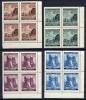 BOHEMIA & MORAVIA 1941 Prague Fair Set  In Blocks Of 4 MNH / **. Michel 75-78 - Unused Stamps