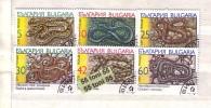Bulgaria / Bulgarie 1989 Animals Snakes  6 Stamps -(used/oblitere(O) - Bulgarije