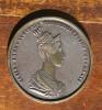 Maria Anna Augusta Ferdinandi I Imp Et Regis Bronze Color Medallion - Bronzi
