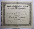 Action 1894 Ancien Comptoir D´Escompte Part Au Porteur S. De Reprise Solde Actif - Banque & Assurance