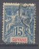 Guyane YT N°35 Groupe Allégorique Oblitéré ° 2ND CHOIX - Französisch-Guayana (1886-1949)