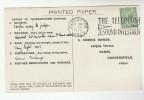 1932 Warrington GB COVER  SLOGAN INVEST TELEPHONE Postcard Re METEOROLOGY STORM REPORT Gv Stamps Telecom - Telecom