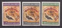 VATICANO   1967 NATALE SASS. 458-460 MNH XF - Nuovi
