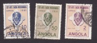 Angola, Scott #359-361, Used, Head Of Christ, Issued 1952 - Angola