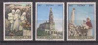 VATICANO   1967 APPARIZIONE DI FATIMA SASS. 453-455 MNH XF - Nuovi