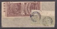 Natal 1898 2d, Die II, Strip Of 3 + Top Selvedge + Arrow Used On Fragment PIETERMARITZBURG 5 AU 92 C.d.s. - South Africa (...-1961)