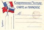 CPA : CORRESPONDANCE MILITAIRE CARTE EN FRANCHISE - Militaria