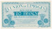 LIMOGE // UNION De LIMOGE // 20 Francs - Bonds & Basic Needs