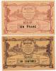 Mantes // UNION Des COMMERCANTS Et INDUSTRIELS // 50 Centimes & Un Franc - Bonos