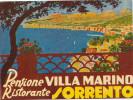 SORRENTO -Pansione Restorante VILLA MARINO,  Old HOTEL LUGGAGE LABEL ETIQUETTE ETICHETTA BAGAGE - Adesivi Di Alberghi