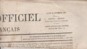 JOURNAL QUOTIDIEN JOURNAL OFFICIEL DE L'EMPIRE FRANCAIS DU LUNDI 29/11/1869 N°328 - 1850 - 1899