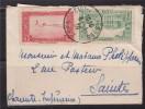 = Algérie De Sidi Bel Abbes 6.1.39 à Saintes 9.1.39 Enveloppe N°113 Ou 113A ??, 105 Et 106 Au Verso - Covers & Documents