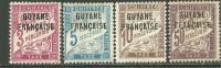 La Guyane Française Neufs Avec Charniére, Surcharger, MINT HINGED, A PERCEVOIR - Guyane Française (1886-1949)