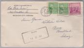 Heimat BL BUUS 1938-09-16 Ankunft Aushilfsstempel Auf Brief Aus Michigan Ind. US - Portomarken