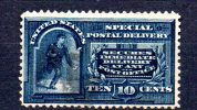 Y622 - STATI UNITI 1895  , Espresso 10 Cent Azzurro N. 5 Usato Dent 12 - Etats-Unis