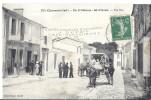Cp 17 ILE D´OLERON St Saint Pierre Une Rue Café National Attelage De Cheval Publicité A DUPUY CARTES POSTALES ILLUSTREES - Ile D'Oléron