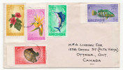 Postal History Cover: Grenada Fishes, Turtle, Flowers Stamps On Cover - Fishes