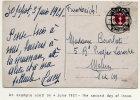 DANZIG 1921 Arms   80 Pfg. Single Franking. On  Foreign Postcard  Michel 82 EF (€55) - Danzig