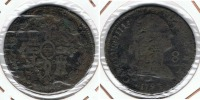 ESPAÑA CARLOS IIII 8 MARAVEDI SEGOVIA 1793 Q - [ 1] …-1931 : Reino