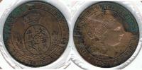 ESPAÑA ISABEL II 2 Y MEDIO CENTIMOS ESCUDO JUBIA 1868 Q - [ 1] …-1931 : Reino