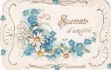 ¤¤  -    Souvenir D´Amitié  -  Fleurs   -  Petite Carte (dim 11.5 X 7.5)   -  ¤¤ - Fleurs