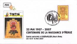 FRANCE Enveloppe TIM HERGE TINTIN KUIFJE Le Temple Du Soleil Et Inca - Comics