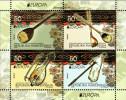 "MACEDONIA/ MAKEDONIA/MACÉDOINE -EUROPA 2014-TEMA ANUAL""INSTRUMENTOS MUSICALES NACIONALES""- HOJITA BLOQUE CARNET - Europa-CEPT"