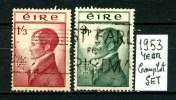IRLANDA - EIRE -year 1953 - Complet  Set- Usato -used . - 1949-... Repubblica D'Irlanda