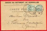 78 DOCKS DU BATIMENT DE VERSAILLES - AU DOS COMMANDE De 1905 - TBE  - R/V - Versailles
